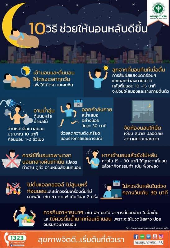 10 วิธี ช่วยให้นอนหลับดีขึ้น